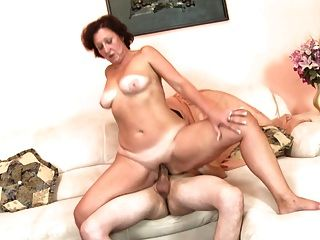 Grandma With Hungry Vagina Gets Young Cock