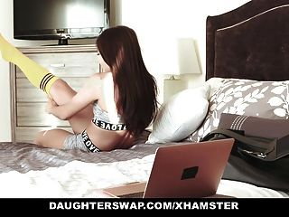 Daughterswap - Cute Teen Cam Girl Fucked By Bffs Dad