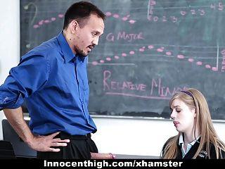 Innocenthigh - Redhead Slut Blows Professor