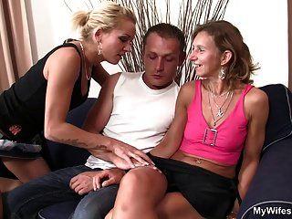 Girlfriends Mom Spread Legs For Him