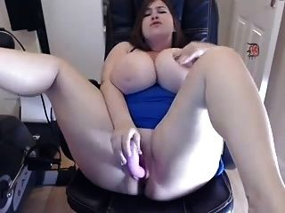 Glorious Big Tits And Hot Dildo-ing