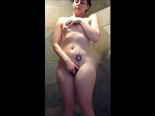 Hairy Amateur Girl Fingering To Very Good Orgasm In Shower