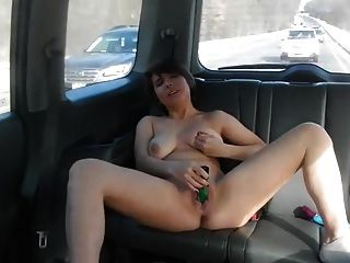Girl Masturbates In Car