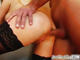 Ass Traffic Two Blondes Get Butt-fucked And Facialed With