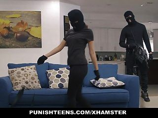 Punishteens - Big Ass Thief Handcuffed And Fucked