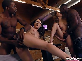 White Babes Butt Fucked By Big Fat Black Cocks