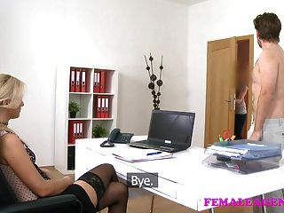 Femaleagent British Stud In Perfect Casting With Sexy Blonde