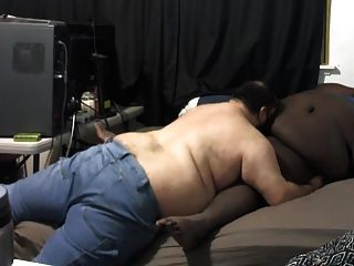 Chubby Blow And Eat Cum Black