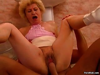 Granny Effie Gets Fucked In The Bathroom