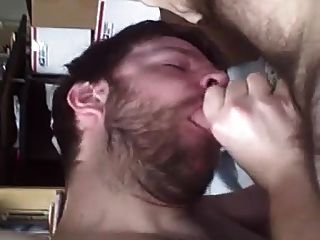 Blowing His Buddy In Bed And Taking The Cum Load