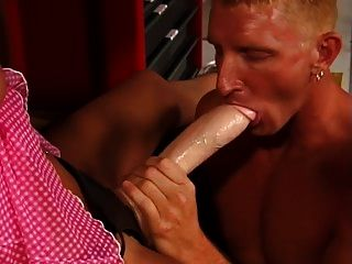 Brooke Banner Fucks A Dude With A Strapon