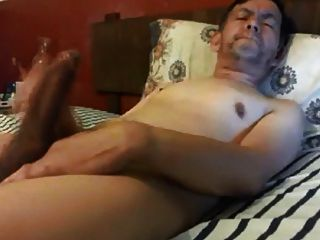 Hot Daddy Wanking His Huge Cock
