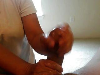 Jerking Off A Big Cock