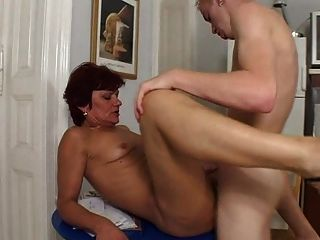 Mature Milf Gets Young Cock Good Old Fashioned Fucking.,
