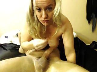 Blonde Deepthroat Cum Dump
