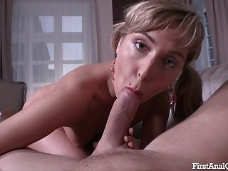 First Time Anal Porn With A Blonde Teen Cutie In High Heels