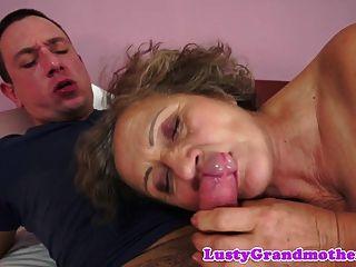 Chubby Grandma Orally Pleasured