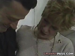 Granny Fucks Young Dick In The Kitchen