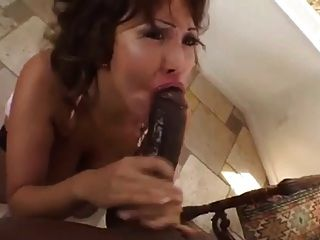 Asian Milf Deepthroating Choking Gagging Big Black Cock