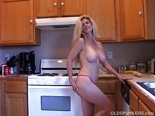Busty Old Blonde Spunker Loves Playing With Her Wet Pussy