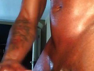 Str8 Black Hunk Jerks Off To Porn & Cums