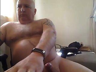 Bald Dad Cums
