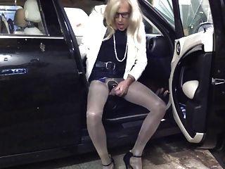 Cd Pantyhose Slut Car Teasing