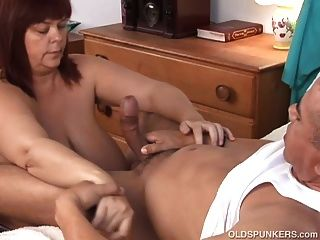 Beautiful Beefy Old Spunker Gives A Sexy Sloppy Blowjob