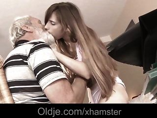 Grandpa Huge Old Cock Mouth Cumshot Medicine For Sick Teenie