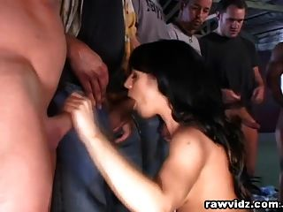 10 Perv Hunks Gang Banged And Dominated Horny Slut