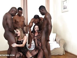 Double Anal Double Penetration Group Fuck 4 Black Men Fuck 2