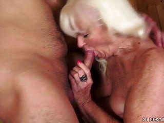 Granny Fucked In Sauna