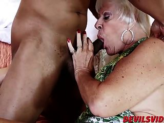 Horny Granny Gets Banged By Black Stud