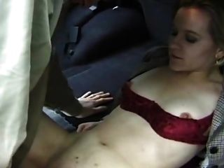 Milf Fucked In Pussy And Ass In Doggy In Car With Cumshot