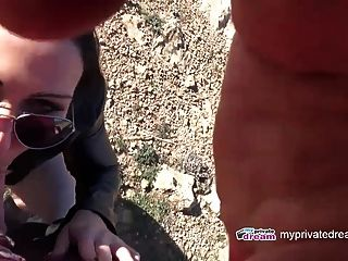 Outdoor Teen Blowjob With Monster Cumshot And Facial