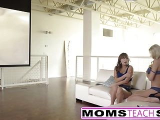 Momsteachsex - Fucking My Big Tit Step Mom & Sis