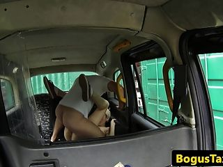 Taxi Amateur Taken For Ride On Cabbies Cock