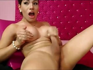 Hot Tgirl Shoots Cum In Her Own Face