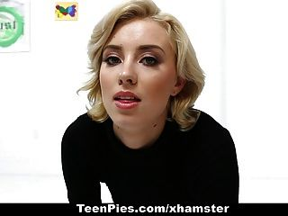 Teenpies- Hot Blondie Filled Up With Cum
