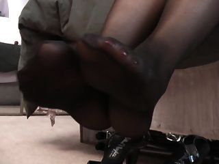 Cumming Inside Of A Nylon Stocking Then Putting It On