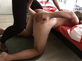Guy Pounded By Mistress With Big Strapon