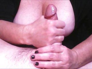 Wonderful Wife Wanks Out 2 Cumshots!