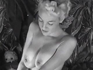 Couch Strip - Vintage Big Boobs Blonde Teases 50s Heels
