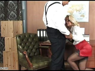 Sexy Office Slut Pussy Fucked Deep And Left Dripping In Cum