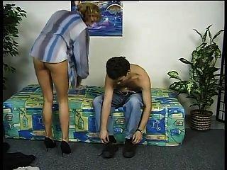 German Milf Testing A Boy