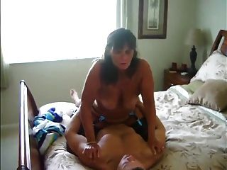 Wife W-bouncing Tits Cums On Stranger