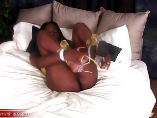 Big Ass Ebony Tranny Is Revealing And Jerking Her Big Dick