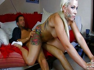 Amateur Tattooed French Whore Hard Banged And Sodomized