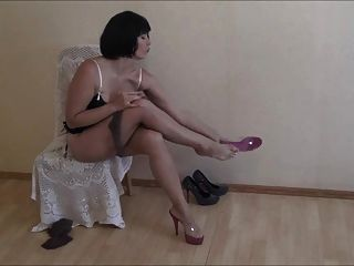 Veronica Candy Nylons On.
