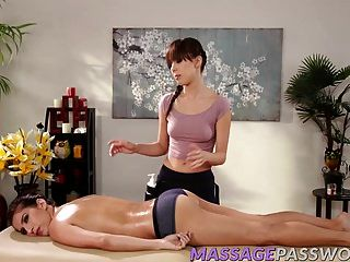 Jenna Sativa Massages April Oneil Shaved Wet Pussy